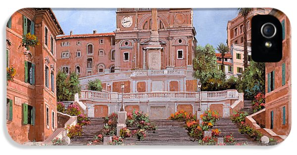 Tourism iPhone 5 Cases - Rome-Piazza di Spagna iPhone 5 Case by Guido Borelli