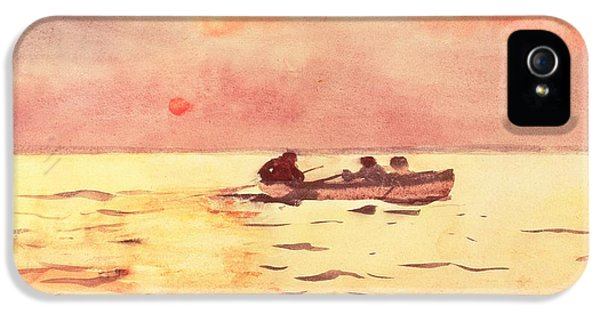 Homer iPhone 5 Cases - Rowing Home iPhone 5 Case by Winslow Homer