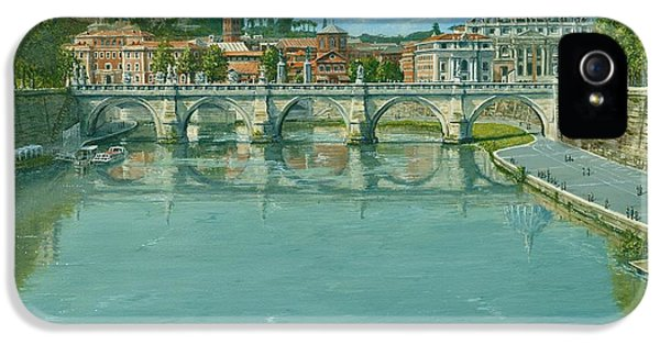 Rowing On The Tiber Rome IPhone 5 / 5s Case by Richard Harpum