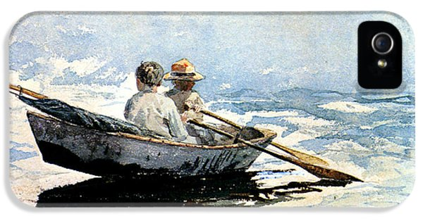 Homer iPhone 5 Cases - Rowing The Boat iPhone 5 Case by Winslow Homer