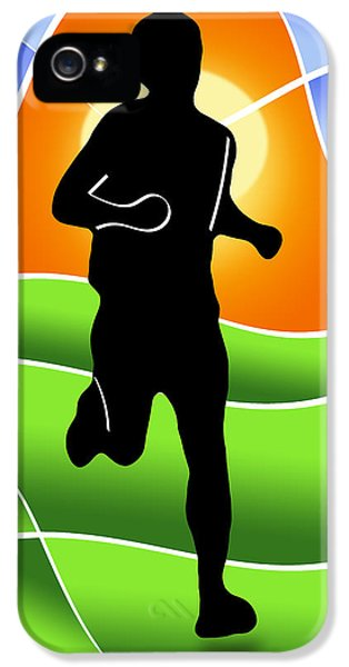 Health Fitness iPhone 5 Cases - Run iPhone 5 Case by Stephen Younts