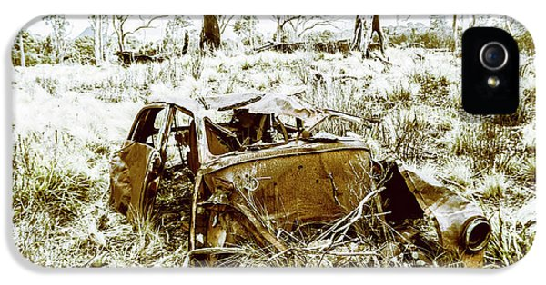 Rusty Old Holden Car Wreck  IPhone 5 / 5s Case by Jorgo Photography - Wall Art Gallery