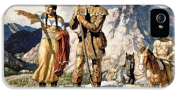 Sacagawea With Lewis And Clark During Their Expedition Of 1804-06 IPhone 5 / 5s Case by Newell Convers Wyeth