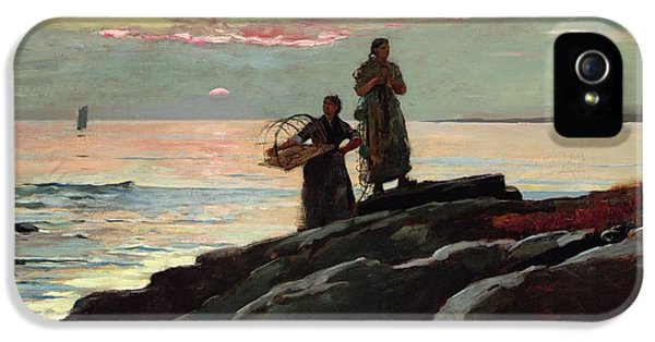 Homer iPhone 5 Cases - Saco Bay iPhone 5 Case by Winslow Homer