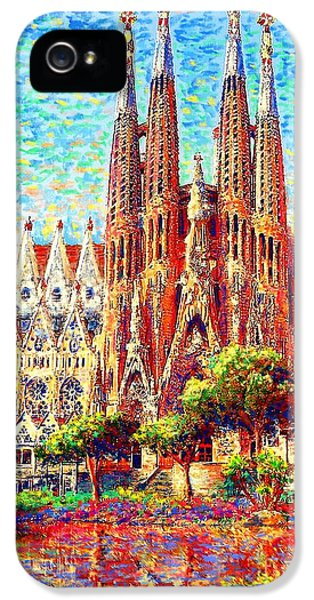 Stone iPhone 5 Cases - Sagrada Familia iPhone 5 Case by Jane Small