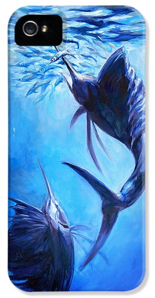 Sailfish And Ballyhoo IPhone 5 / 5s Case by Tom Dauria