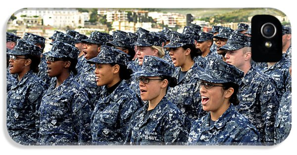 Clothing iPhone 5 Cases - Sailors Yell Before An All-hands Call iPhone 5 Case by Stocktrek Images
