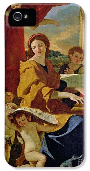 Curtain iPhone 5 Cases - Saint Cecilia iPhone 5 Case by Nicolas Poussin