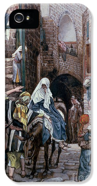Saint Joseph Seeks Lodging In Bethlehem IPhone 5 / 5s Case by Tissot
