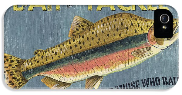 Camping iPhone 5 Cases - Sam Egans Bait and Tackle iPhone 5 Case by Debbie DeWitt
