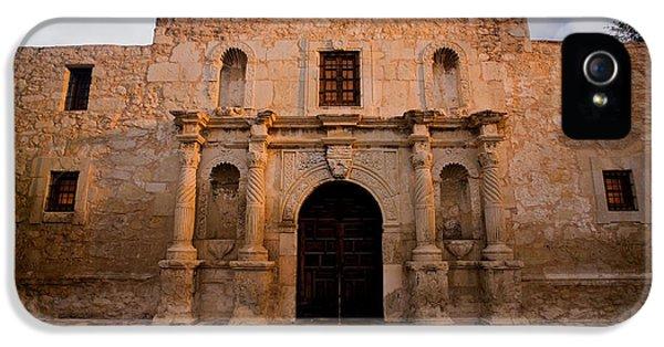 Ruins iPhone 5 Cases - San Antonio Alamo at Sunrise iPhone 5 Case by Samuel Kessler