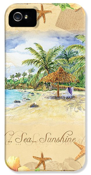 Sand Sea Sunshine On Tropical Beach Shores IPhone 5 / 5s Case by Audrey Jeanne Roberts