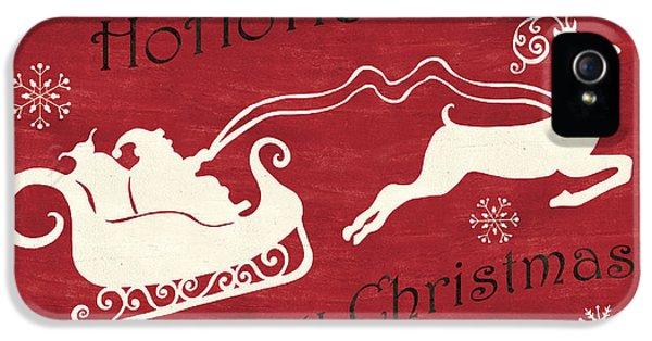 Santa And Reindeer Sleigh IPhone 5 / 5s Case by Debbie DeWitt