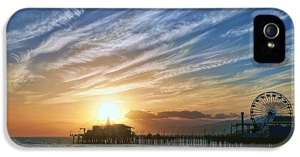 Santa Monica Pier IPhone 5 / 5s Case by Eddie Yerkish