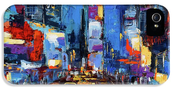 Saturday Night In Times Square IPhone 5 / 5s Case by Elise Palmigiani