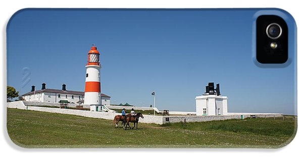 Foghorn iPhone 5 Cases - Souter Lighthouse and foghorn. iPhone 5 Case by Elena Perelman