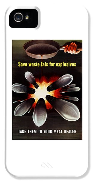 Americana iPhone 5 Cases - Save Waste Fats For Explosives iPhone 5 Case by War Is Hell Store