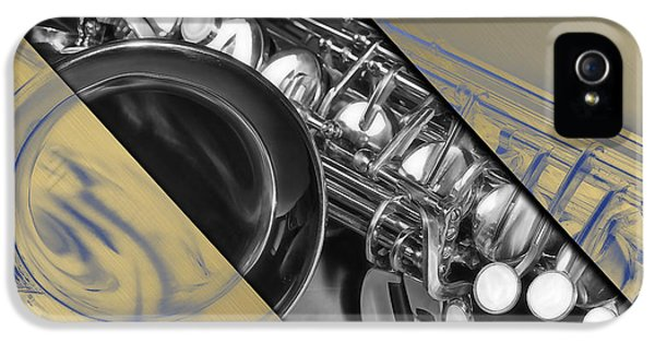 Saxophone Musical Collection IPhone 5 / 5s Case by Marvin Blaine