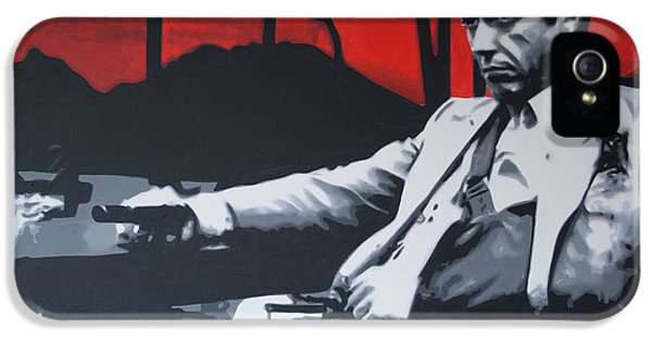 Brian De Palma iPhone 5 Cases - Scarface - Sunset 2013 iPhone 5 Case by Luis Ludzska