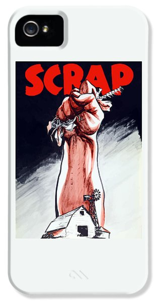 Americana iPhone 5 Cases - Scrap - WW2 Propaganda iPhone 5 Case by War Is Hell Store