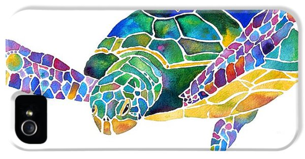 Sea Turtle Celebration 4 Prints Only IPhone 5 / 5s Case by Jo Lynch