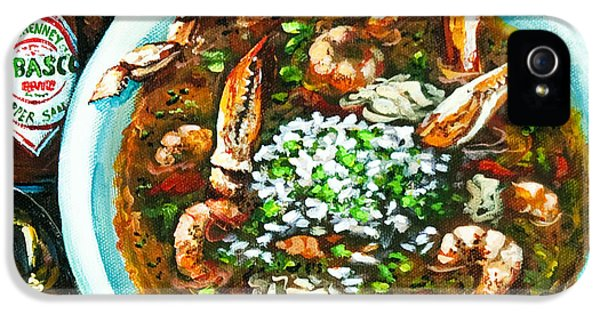 Food iPhone 5 Cases - Seafood Gumbo iPhone 5 Case by Dianne Parks
