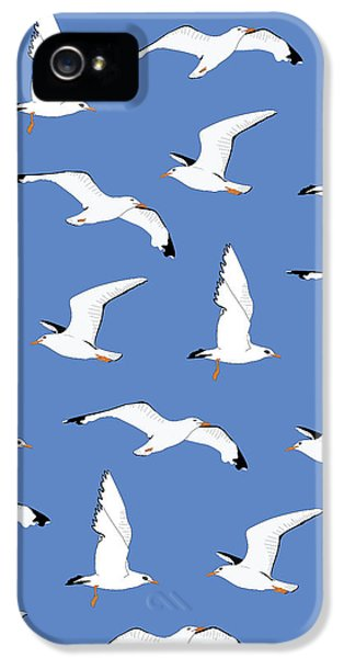 Seagulls Gathering At The Cricket IPhone 5 / 5s Case by Elizabeth Tuck