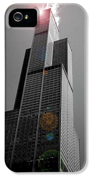 Sears iPhone 5 Cases - Sears Tower 2 iPhone 5 Case by BuffaloWorks Photography