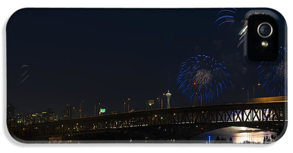 Fourth Of July iPhone 5 Cases - Seattle Fireworks iPhone 5 Case by Mike Dawson