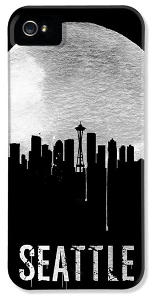 Seattle Skyline Black IPhone 5 / 5s Case by Naxart Studio