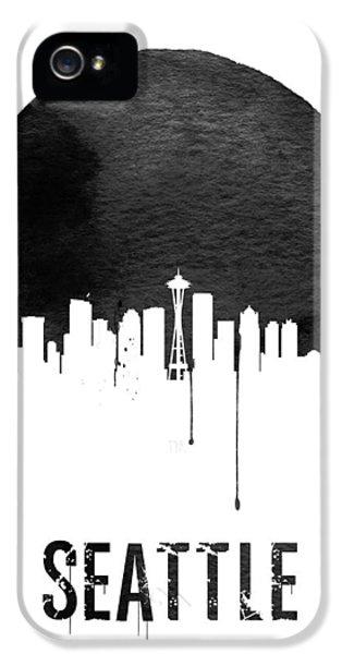 Seattle Skyline White IPhone 5 / 5s Case by Naxart Studio