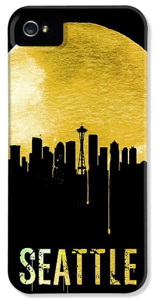 Seattle Skyline Yellow IPhone 5 / 5s Case by Naxart Studio