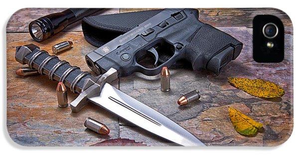 Ammunition iPhone 5 Cases - Self Defense Still Life iPhone 5 Case by Tom Mc Nemar