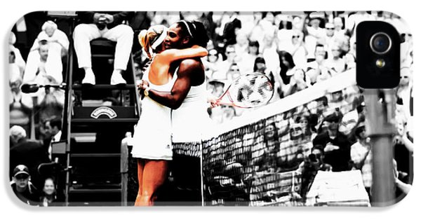 Serena Williams And Angelique Kerber 1a IPhone 5 / 5s Case by Brian Reaves