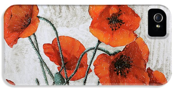 Poppy iPhone 5 Cases - Sette Papaveri iPhone 5 Case by Guido Borelli