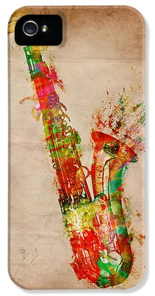 Artistic iPhone 5 Cases - Sexy Saxaphone iPhone 5 Case by Nikki Smith