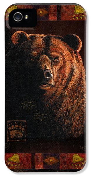Hunting iPhone 5 Cases - Shadow Grizzly iPhone 5 Case by JQ Licensing