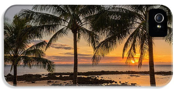 Sun iPhone 5 Cases - Sharks Cove Sunset 4 - Oahu Hawaii iPhone 5 Case by Brian Harig