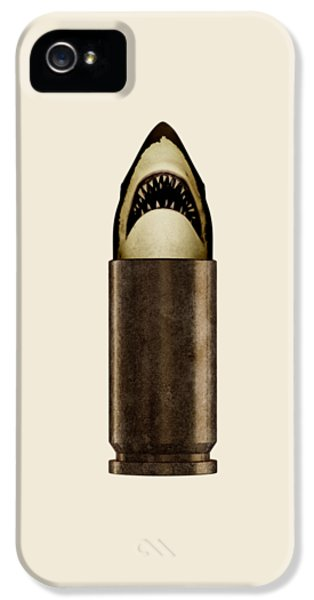 Guns iPhone 5 Cases - Shell Shark iPhone 5 Case by Nicholas Ely