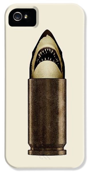 Bullets iPhone 5 Cases - Shell Shark iPhone 5 Case by Nicholas Ely