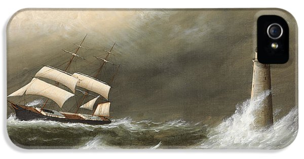 Ships Passing Minot's Light IPhone 5 / 5s Case by Clement Drew