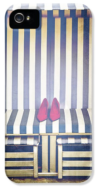High Heel iPhone 5 Cases - Shoes In A Beach Chair iPhone 5 Case by Joana Kruse