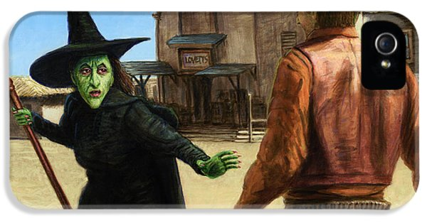 Witch iPhone 5 Cases - Showdown iPhone 5 Case by James W Johnson