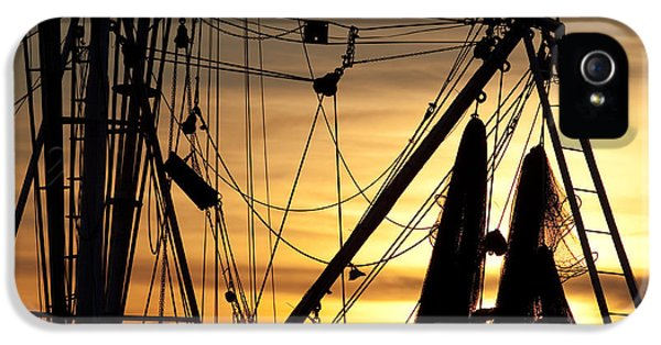 Net iPhone 5 Cases - Shrimp Boat Rigging iPhone 5 Case by Dustin K Ryan