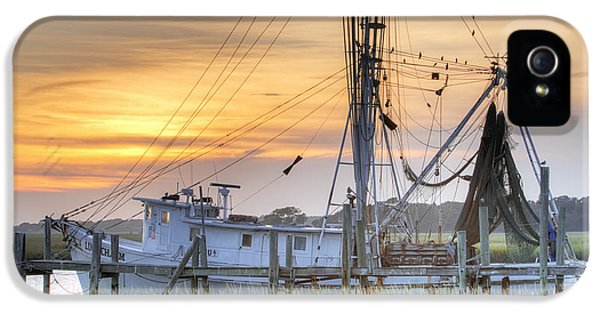 Net iPhone 5 Cases - Shrimp Boat Sunset Charleston SC iPhone 5 Case by Dustin K Ryan