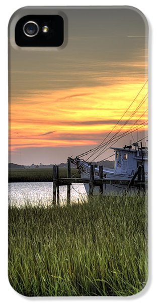 Net iPhone 5 Cases - Shrimp Boat Sunset iPhone 5 Case by Dustin K Ryan