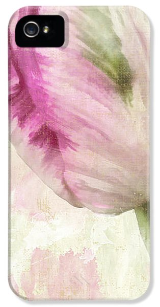 Tulips iPhone 5 Cases - Shy I iPhone 5 Case by Mindy Sommers