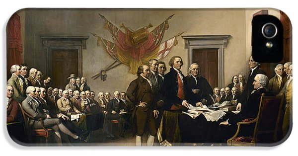 Us iPhone 5 Cases - Signing The Declaration Of Independance iPhone 5 Case by War Is Hell Store