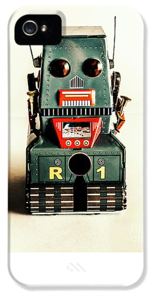Simple Robot From 1960 IPhone 5 / 5s Case by Jorgo Photography - Wall Art Gallery