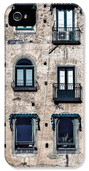 Old Houses iPhone 5 Cases - Six Windows iPhone 5 Case by Joana Kruse